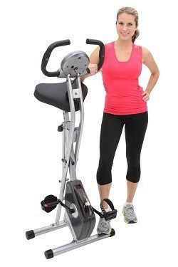 Exerpeutic-Folding-Magnetic-Upright Bike with Pulse